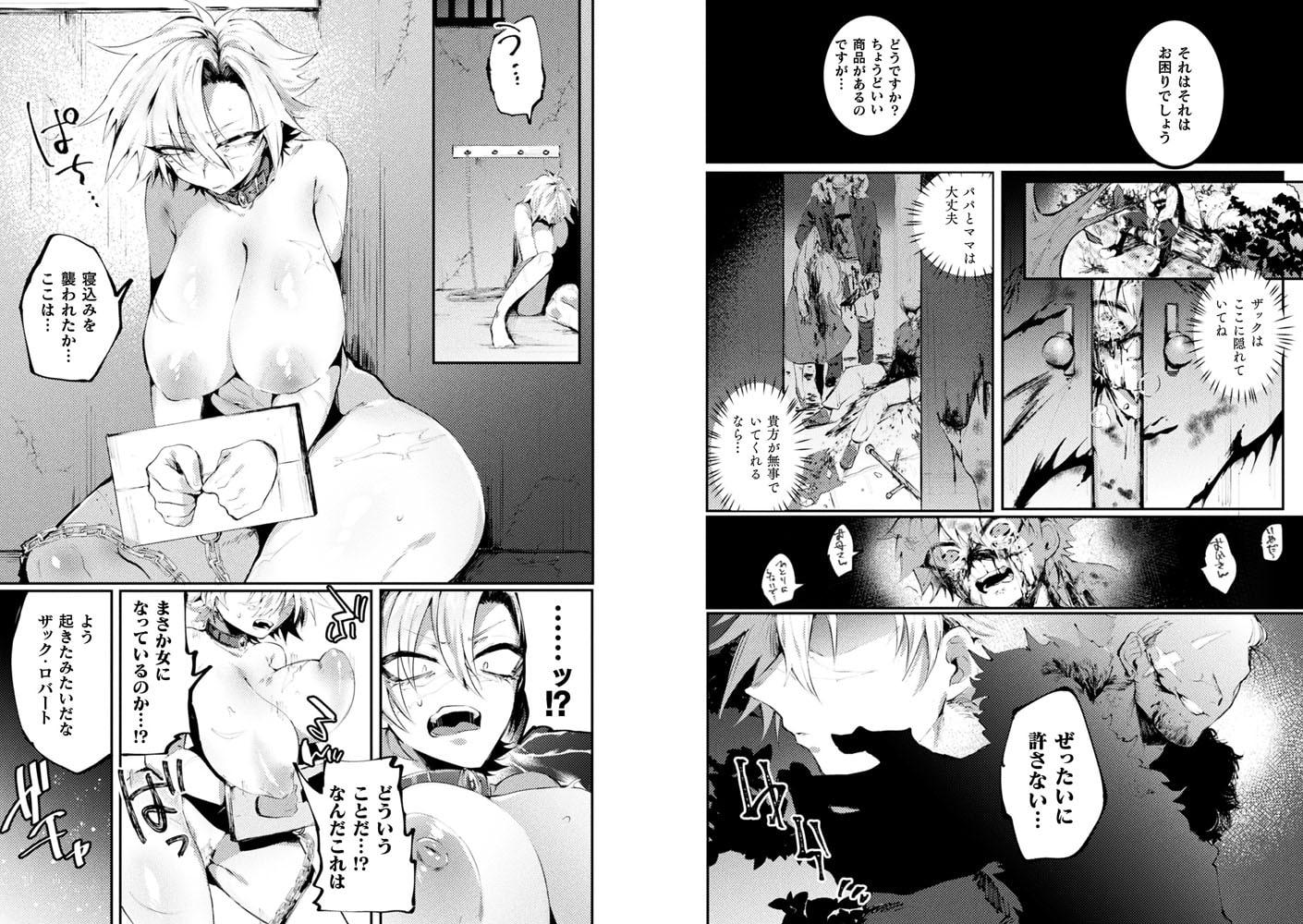 【娼婦淫録〜女体化したある賞金稼ぎの場合〜】サンプル画像2